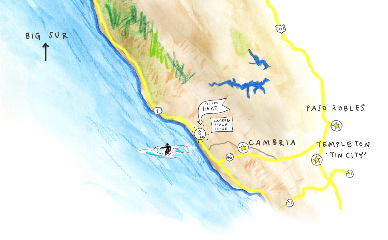 Map of cambria coast