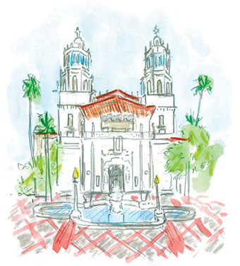 Illustration of Hearst Castle
