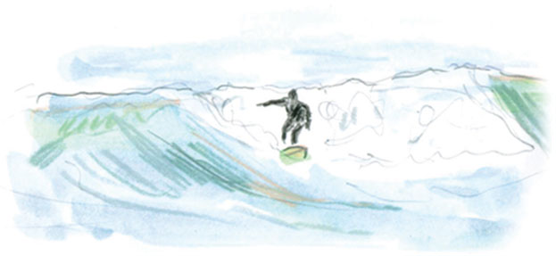 illustration of surfer
