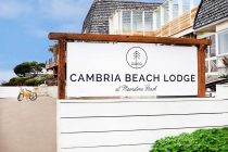 cambria beach lodge sign