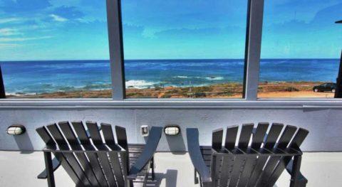 beach chairs on deck